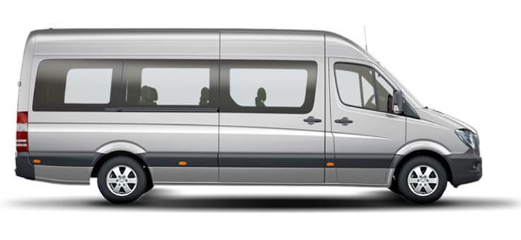 Maxi Van, 16 человек - 600 грн<br> 16 грн/км<br>6 грн/минута грн/час